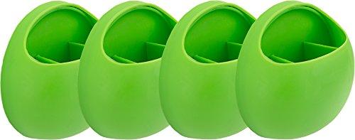 Rusty Bob - Zahnbürstenhalter / Zahnpasta / Besteckaufbewahrungs halterung mit Saugnapf für Bad oder Küche (Grün vierer set)