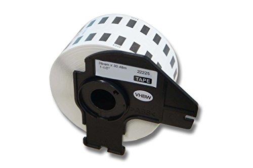 vhbw Etikettenband Beschriftungsband Premium 38mm für Brother P-Touch QL-500, QL-500A, QL-500BS, QL-500BW, QL-550, QL-560, QL-560VP wie DK-22225.
