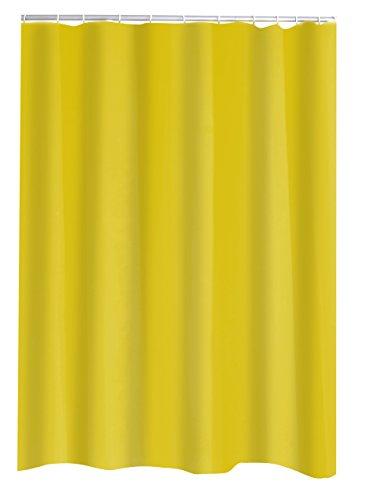 Gelb Duschvorhang-ringe (Ridder Duschvorhang Textil Madison inkl. Ringe gelb 120x200 cm)