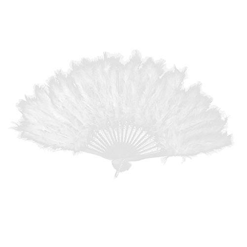 Kostüm Party Burlesque - Blesiya Federfächer Tanz Kostüm Party - Weiß, 40cm x 25cm