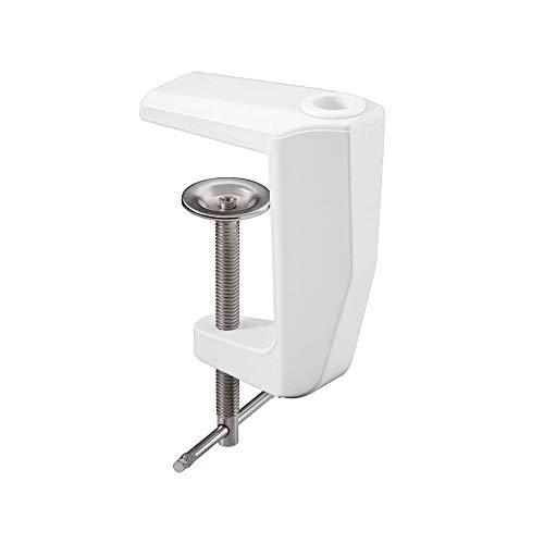 Fixpoint 77460 Abrazadera de mesa de repuesto para la lupa de aumento, 0 mm - 60 mm, Metal sólido, Color Blanco