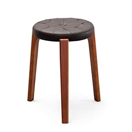 Rückenfreies Küche Hocker (Lwjjby Barhocker, rustikale Barhocker aus massivem Holz, gepolsterte rückenfreie Hocker-Stühle mit Sitzkissen für die Küche (Color : A))