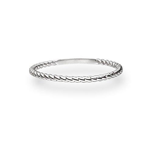 Glanzstücke München Damen-Ring Sterling Silber - Vorsteckring gedrehtes Seil Stapelring