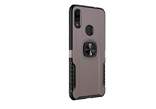 Markest Funda del Teléfono Móvil para Xiaomi Redmi Note 7, Parachoques a Prueba de Golpes, Caja del Teléfono Inteligente con Soporte y Función de Montaje Magnético para Autos, Agarre Cómodo(oro rosa)