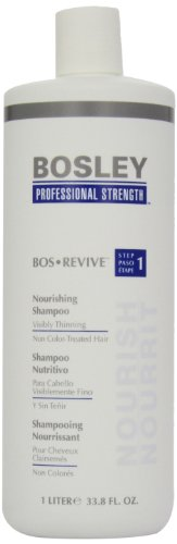 Bosley Bos Revive Nourishing Shampoo for Visibly Thinning Non Color-Treated Hair, 33.8 Ounce by Bosley