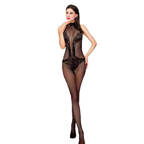 Netz Anzug, Damen, schwarze Spitze, durchsichtige Strumpfhose, Gr. S/M 34,36,38 Ganzkörper, langarm, Netz Strumpfhose, sexy, Fetisch Catsuit