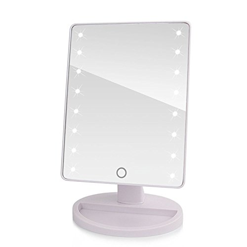 LED touch screen Specchio portatile 16 led illuminato