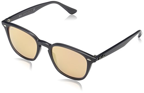 Ray Ban Unisex Sonnenbrille RB4258, Grau (Shiny Opal Grey Flash Orange), One Size (Herstellergröße: 50)