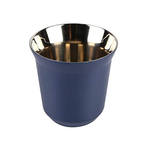 Dianoo Tazza Di Caffè Tazzine Espresso In Acciaio Inox Doppio Muro Isolato Termicamente Capsula Blu Scuro