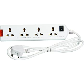Havells 6A Four-Way Extension Board (White) -1.5 metre Heavy Duty Wire