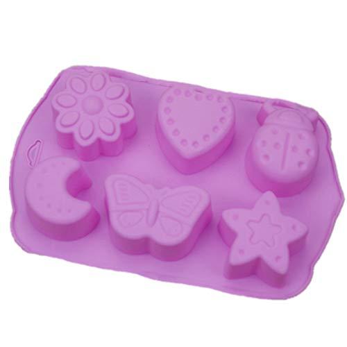 Markcur Silikonform Silikon Stern Mond Schmetterlings Kuchenform Schokoladenform Seife Form DIY Backen Werkzeug Insekten Form