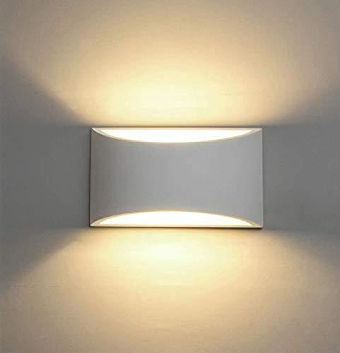 Lampade da parete a LED Lampada da parete in gesso si accendono verso il basso Applique da parete decorativa per interni con lampada da notte a base G9 da 7W @ Warm White
