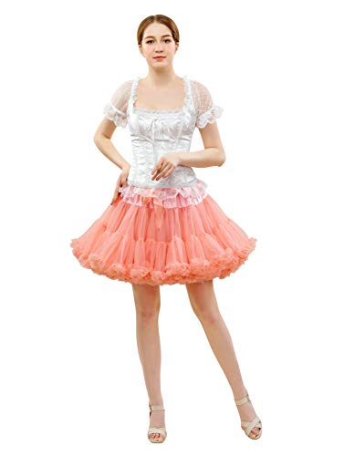 FOLOBE Frauen Tutu Kostüm Ballett Tanz Multi-Layer Puffy Rock Erwachsene luxuriöse weiche - Tanz Kostüm Firma