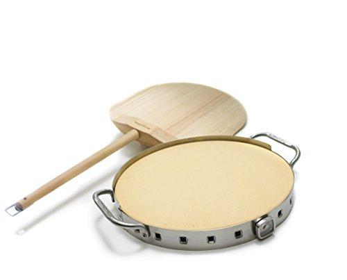 Broil King Grill-/Grillzubehör, Pizzastein-Set Premium 33 cm Durchmesser hoch 1 cm, edelstahl, 5 x 5 x 5 cm, 69815
