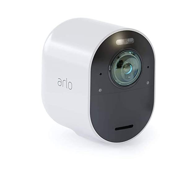 Arlo 4K UHD Wire-Free Security Add-on Camera, Indoor/Outdoor Security Camera with Colour Night Vision, 180 Degree View, 2-Way Audio, Spotlight, Siren 317Bh5ZBwYL
