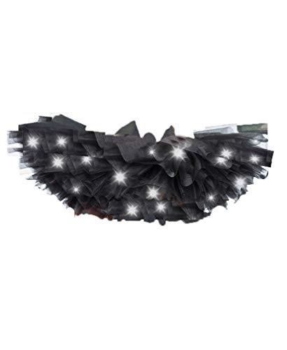 Aimerfeel intime Frauen LED leuchten schwarz 8 geschichteten Ballettröckchenrock, 36-42.
