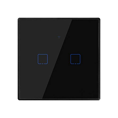 BSDK Interruptor de Panel táctil de WiFi Smart Wall Light 2 Grupos,...