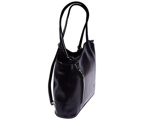 Florence Leather zaino borsa, Black & Brown (multicolore) - 207 Black