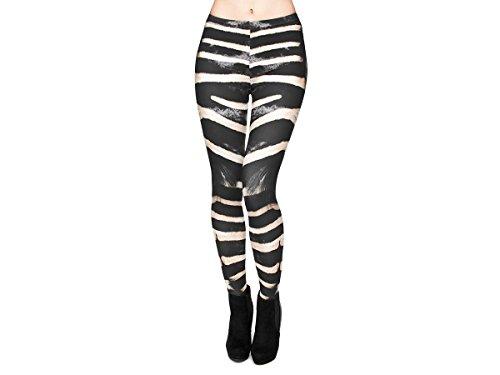 Leggings Damen Bedruckt Sexy Leggins Ladies mit Print Look Motiv Muster Stretch...