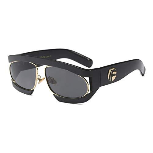 LIUYAWEI Luxus Rechteck Sonnenbrille Schildpatt Frame Herren Sonnenbrille Vintage Brille Weiblich