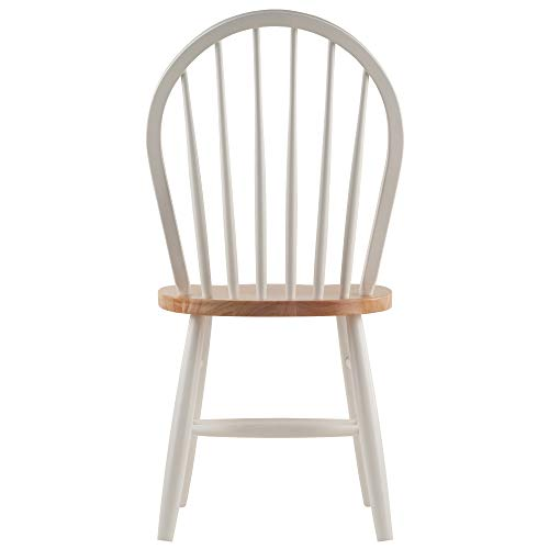 Winsome Solid Wood 2 Piece Windsor Chair ...
