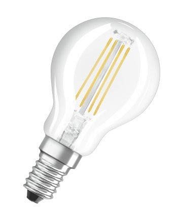 Osram LED Base Classic P Lampe, Sockel: E14, Warm White, 2700 K, 4 W, Ersatz für 40-W-Glühbirne, klar