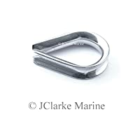 Pack of 10 - 2mm wire rope thimble made from 316 A4 Marine grade stainless steel