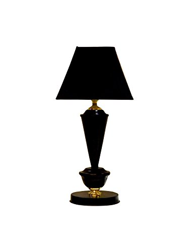 Tucasa LG-387 Square Shade Table Lamp (Black)