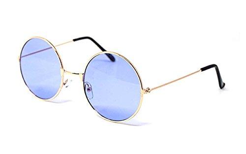 UltraByEasyPeasyStore Or Frame Mit Lila Linsen Erwachsene Retro Runde Sonnenbrillen Stil John Lennon Vintage Look Qualität UV400 Elton Brillen Männer Frauen Klassische Unisex-Brillen
