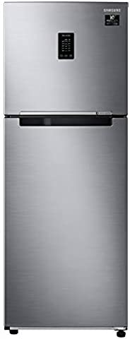 Samsung 336 L 2 Star with Inverter Double Door Refrigerator (RT37A4632S9/HL, Refined Inox, Convertible, Curd M