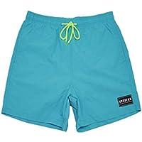 Formulaone Diseño De Moda Hombres Transpirables Pantalones Cortos De Playa De Verano De Secado Rápido Casual Color Sólido Hombre Atlético Pantalones Cortos para Gimnasio - Azul Cielo XL