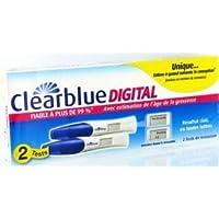 CLEARBLUE - Test de grossesse Clearblue DIGITAL - avec estimation de l'âge de la grossesse - Boîte de 2 Test