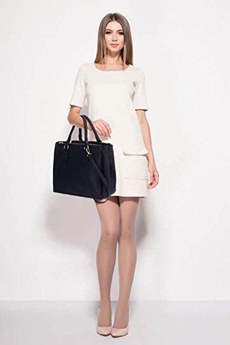 LeahWard Damen Großer Handtaschen 3 Fachtasche Für Frauen Umhängetaschen für Schulferien 00260 (Schwarz Groß) Dunkelgrau Groß