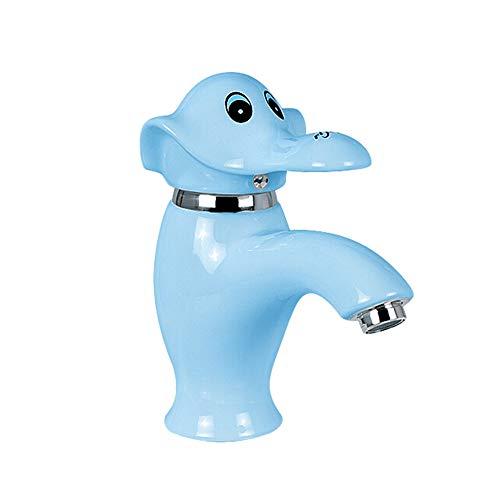 SADF Faucet Bathroom Lavabo De Baño para Niños Lavabo Brote Pequeño Elefante Grifo De Luz