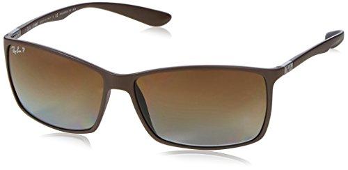 Ray-Ban Unisex RB4179 Sonnenbrille, Gestell: Dunkelbraun Glas: polarisiert braun Verlauf 6124T5, Large (Herstellergröße: 62)