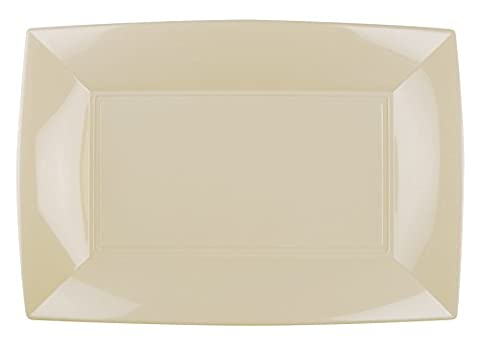 6 Elegant Square Plates | Strong Plastic Plate/Serving Plate | High