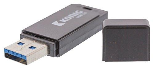 König CSU3FD64GB Unidad Flash USB 64 GB USB Tipo A 3.0 (3.1 Gen 1) Negro - Memoria USB (64 GB, USB Tipo A, 3.0 (3.1 Gen 1), Tapa, Negro)