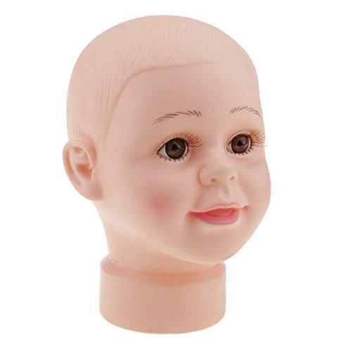 CUTICATE PVC Jungen Mannequin Männchen Blinder Kopfstandplatz Für Hut Perücken Schal Sonnenbrille (Blinde Sonnenbrillen)