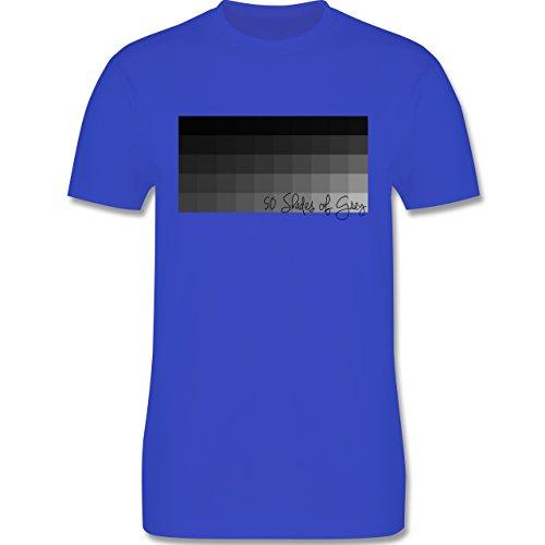 Statement Shirts - 50 Shades of Grey 50 Grauabstufungen - Herren Premium T-Shirt Royalblau