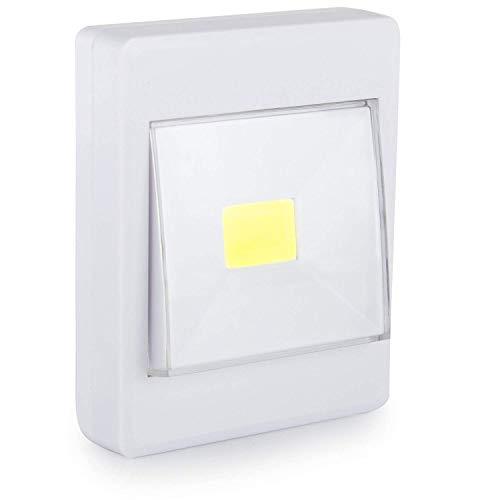 LED-Lichtschalter - Kabellos batteriebetrieben COB LED-Licht - Kabelloses LED-Licht für Flure, Schlafzimmer, Nachtlesung - Smart Bright LED-Schalter - Mini Portable Light Switches (Lichtschalter Dimmer Installieren)