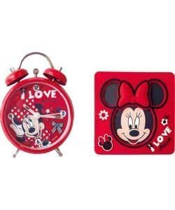 Minnie Mouse Clock and Frame Set (IJ629DF)