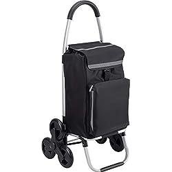 Meister Chariot de courses à roulettes avec compartiment isotherme, sac amovible et résistant à la pluie, 54 L, 6816810