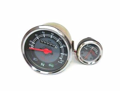 Price comparison product image Enfield County Royal Enfield Black Grey 0-160kph Speedo Ammeter Deal