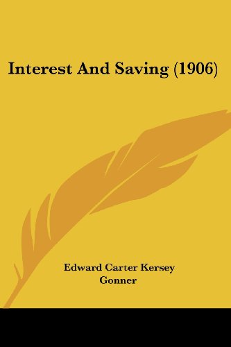 Interest and Saving (1906)