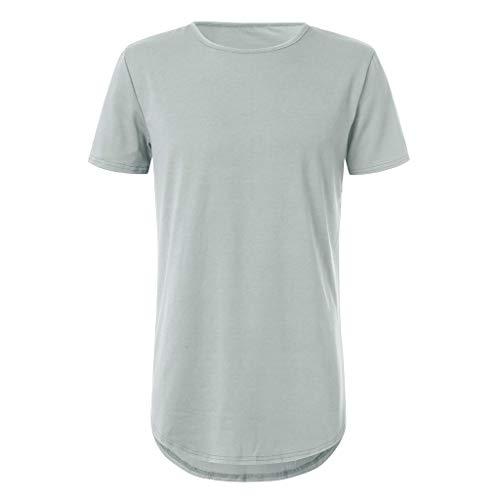 Produp Fashion Tops Sommer Herren T-Shirt Grundiert Rundhalsausschnitt Hip Hop Solide Dünnes T-Shirt Top Bluse Comfoutable Sport Pullover