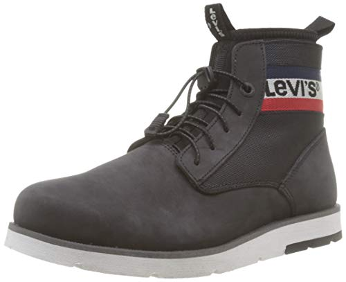Levi's Jax Lite Sportswear, Botas Chukka para Hombre, Negro Boots 59, 46 EU