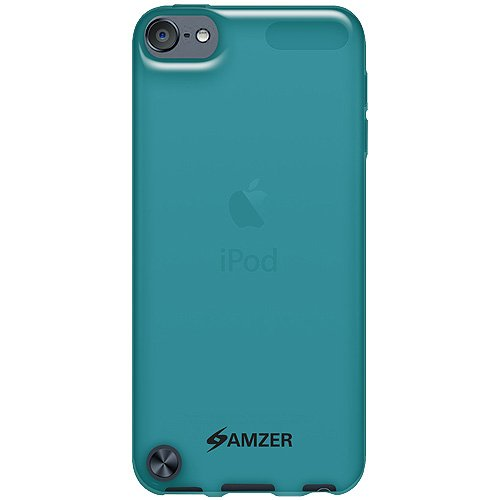 Amzer 94906 Soft Gel TPU Gloss Skin Case - Translucent Blue for iPod Touch 5th Gen