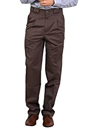 Bottom's Cotton Chinos Two Pleated Cartini Brown Colored Trouser For Men