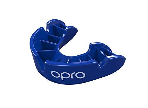 Opro Bronze Level Mundschutz | Gum Shield für Rugby, Hockey und andere Kontaktsportarten (Blau, Erwachsene)
