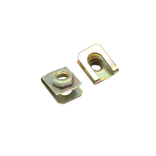 sourcingmap 20 Stk 5 mm Loch Durchmesser Bronze Ton Metall Halteklammern für Auto Türaußenhaut (10 14 X Teppich)